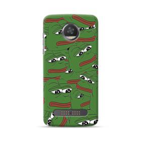 Sad Pepe frog seamless Motorola Moto Z3 Play Case