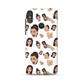 Kim Kardashian Emoji Kimoji seamless Motorola One Case