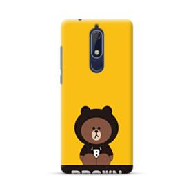 Line Friends Brown Give You Luck Nokia 5.1 Case
