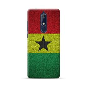 Flag of Ghana Cracks Nokia 5.1 Case