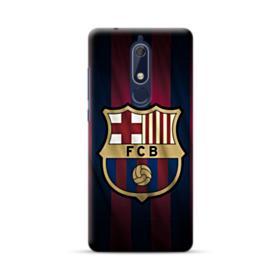 FC Barcelona Logo Fabric Nokia 5.1 Case
