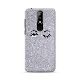 Silver Glitter Eyes Nokia 5.1 Plus Case