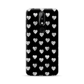 White Sketch Hearts Pattern Nokia 5.1 Plus Case