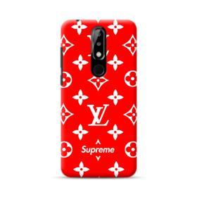 Classic Red Louis Vuitton Monogram x Supreme Logo Nokia 5.1 Plus Case