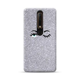 Silver Glitter Eyes Nokia 6.1 Case
