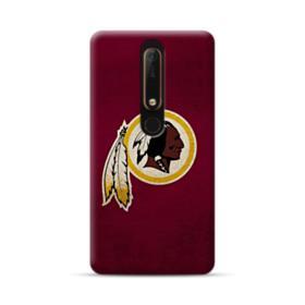 Washington Redskins Team Logo Crack Nokia 6.1 Case