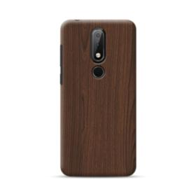 Dark Coffe Wood  Nokia 6.1 Plus Case