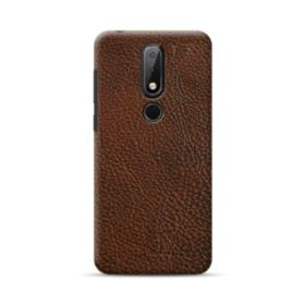 Dark Brown Leather Nokia 6.1 Plus Case