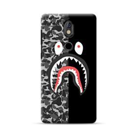 Bape Shark Camo & Black Nokia 7 Case