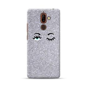 Silver Glitter Eyes Nokia 7 Plus Case