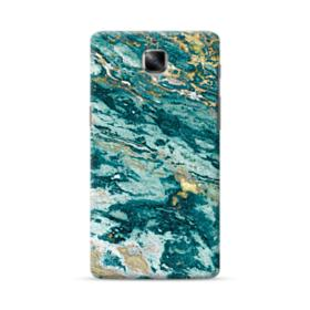 Turquoise and Gold Marble OnePlus 3 Case