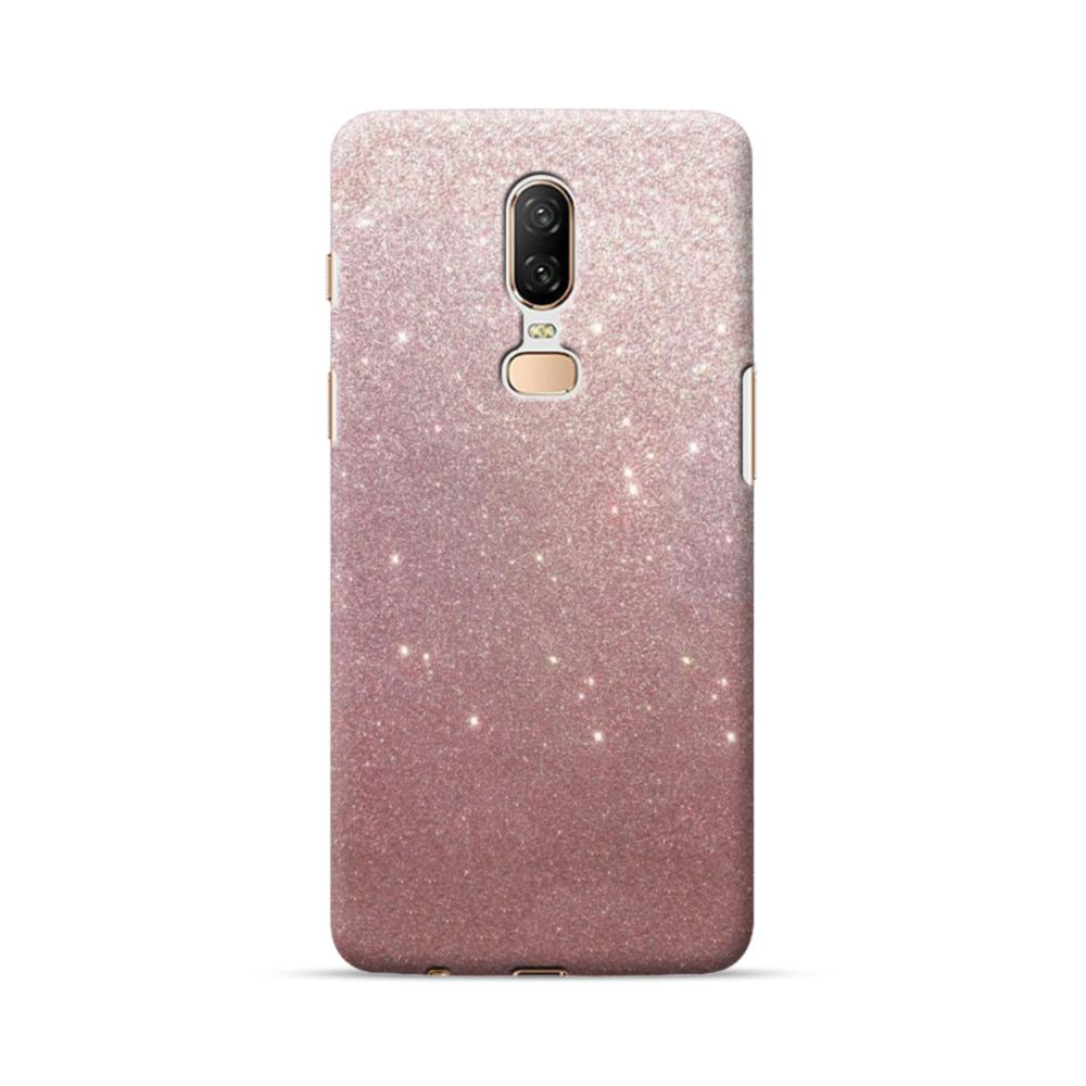 hot sale online 1d04d cce5a Rose Gold Glitter OnePlus 6 Case