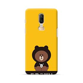 Line Friends Brown Give You Luck OnePlus 6 Case