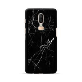 Black Marble White Veins OnePlus 6 Case