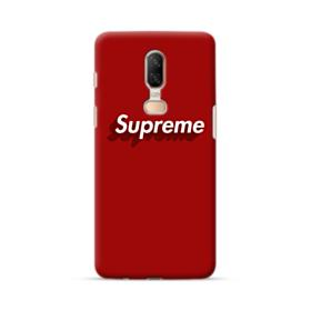 Supreme Red Cover OnePlus 6 Case