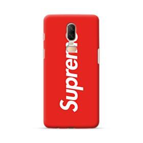 Red Supreme OnePlus 6 Case