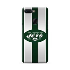 New York Jets Team Logo Vertical Stripes Oppo R15 Case