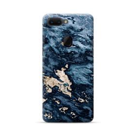 Navy Blue Sarrancolin Marble Oppo R15 Case