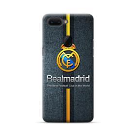 Real Madrid Team Logo Gold Stripes Oppo R15 Case