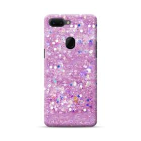 Pink Sparkling Glitter Flakes Oppo R15 Case