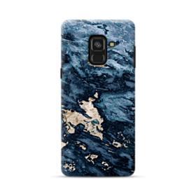Navy Blue Sarrancolin Marble Samsung Galaxy A8 (2018) Case