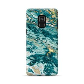 Turquoise and Gold Marble Samsung Galaxy A8 (2018) Case