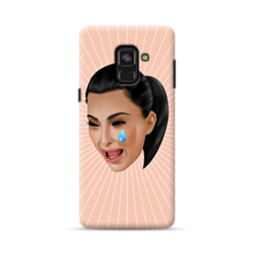 Crying Kim emoji kimoji Samsung Galaxy A8 (2018) Case
