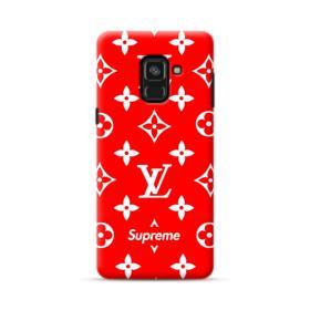 Classic Red Louis Vuitton Monogram x Supreme Logo Samsung Galaxy A8 (2018) Case