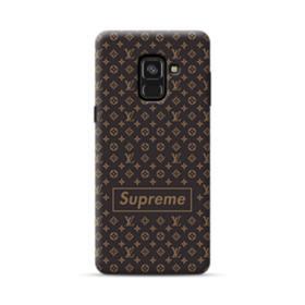 Classic Louis Vuitton Brown Monogram x Supreme Logo Samsung Galaxy A8 (2018) Case