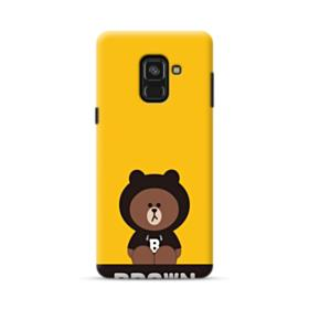 Line Friends Brown Give You Luck Samsung Galaxy A8 Plus (2018) Case
