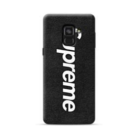 Supreme Logo Black Samsung Galaxy A8 Plus (2018) Case