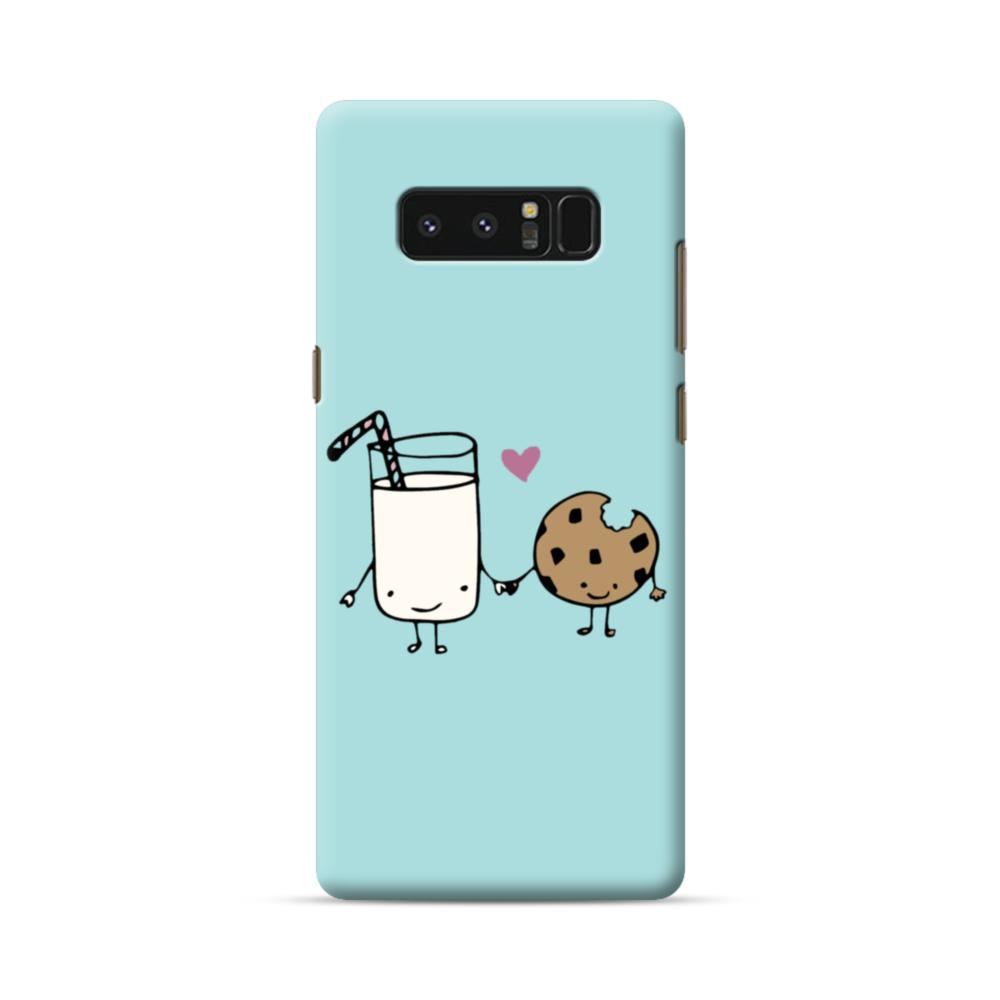 Tiffany Blue Cute Kawaii Milk And Cookie Samsung Galaxy Note 8 Case Caseformula