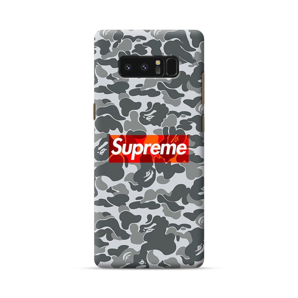 purchase cheap 2d6b8 52f55 Supreme Camo Samsung Galaxy Note 8 Case | CaseFormula