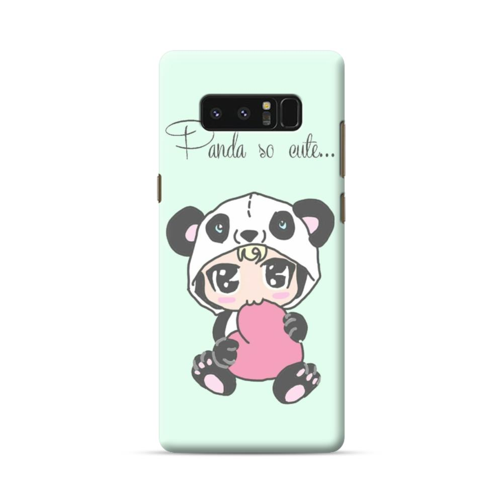 Cartoon Panda So Cute Green Samsung Galaxy Note 8 Case Caseformula