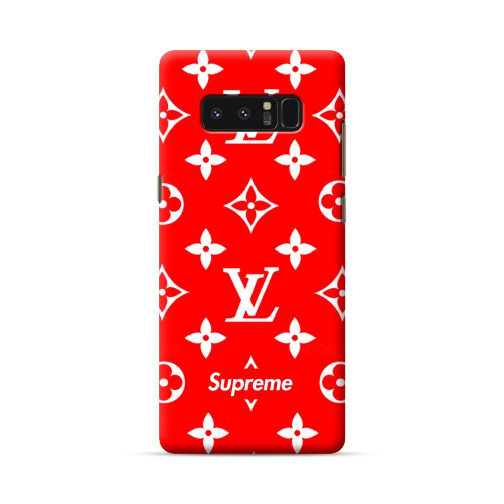 competitive price 0a1d1 a79ec Classic Red Louis Vuitton Monogram x Supreme Logo Samsung Galaxy Note 8 Case
