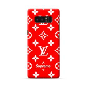 Classic Red Louis Vuitton Monogram x Supreme Logo Samsung Galaxy Note 8 Case