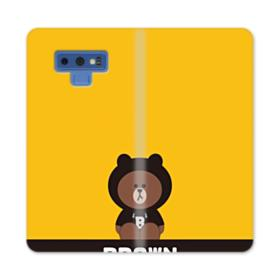 Line Friends Brown Give You Luck Samsung Galaxy Note 9 Wallet Case