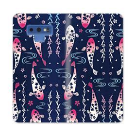 Fish Illustration Samsung Galaxy Note 9 Wallet Case