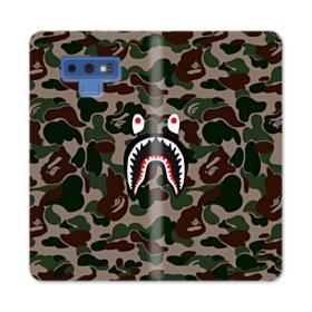 Bape shark camo print Samsung Galaxy Note 9 Wallet Case