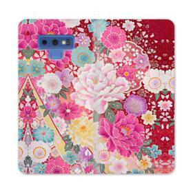 Sakura Vintage Samsung Galaxy Note 9 Wallet Case