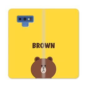 Line Friends Brown Samsung Galaxy Note 9 Wallet Case