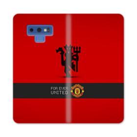 Manchester United Team Logo Red Devil Banner Samsung Galaxy Note 9 Wallet Case