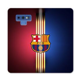FC Barcelona Gold Vertical Stripes Samsung Galaxy Note 9 Wallet Case