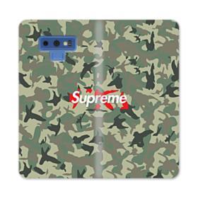 Supreme Camo Samsung Galaxy Note 9 Wallet Case