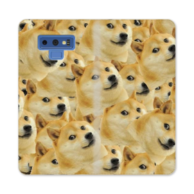 Doge meme seamless Samsung Galaxy Note 9 Wallet Case