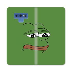 Sad Pepe frog Samsung Galaxy Note 9 Wallet Case