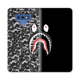 Bape Shark Camo & Black Samsung Galaxy Note 9 Wallet Case