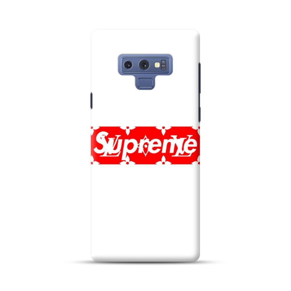 Louis Vuitton Monogram X Supreme Logo Samsung Galaxy Note 9 Case Caseformula