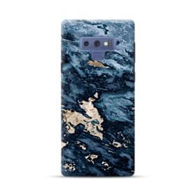 Navy Blue Sarrancolin Marble Samsung Galaxy Note 9 Case