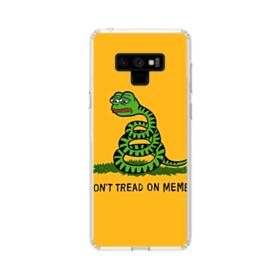 Pepe the frog don't tread on memes Samsung Galaxy Note 9 Clear Case
